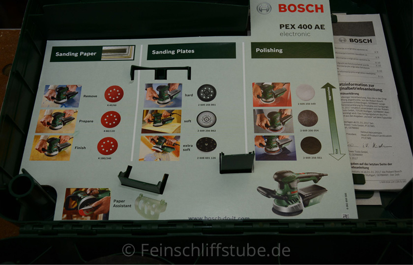 bosch exzenterschleifer pex 400 ae im koffer